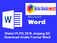 Materi PLPG 2016 Jenjang SD Download Gratis Format Word