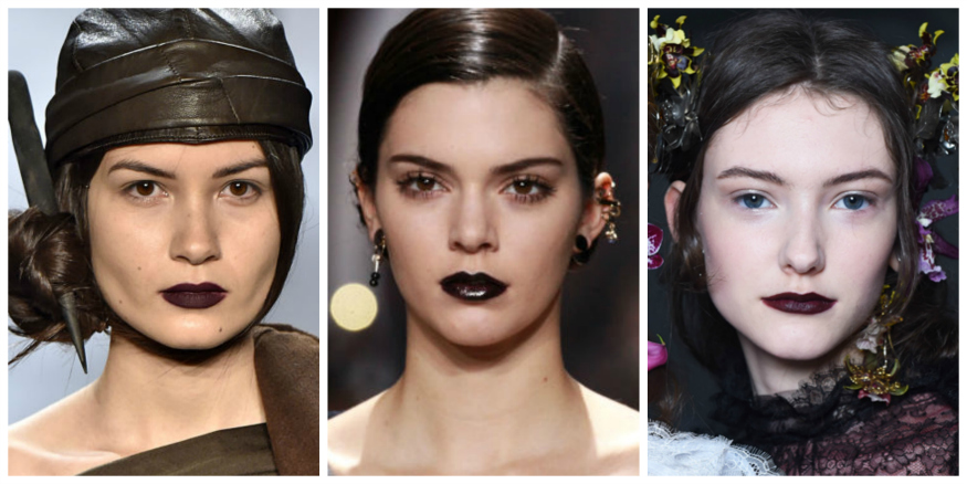 fall 16 Makeup trends Gothic lips