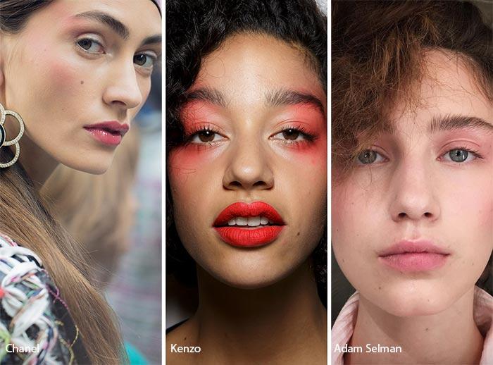 макияж с помощью румяна
