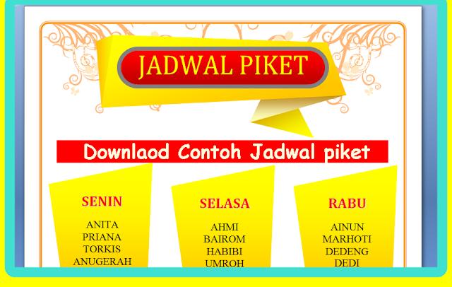 Download Aplikasi Pembuat Jadwal Piket Otomatis Terbaru 2017