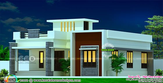 Single floor 2 bedroom attached house design