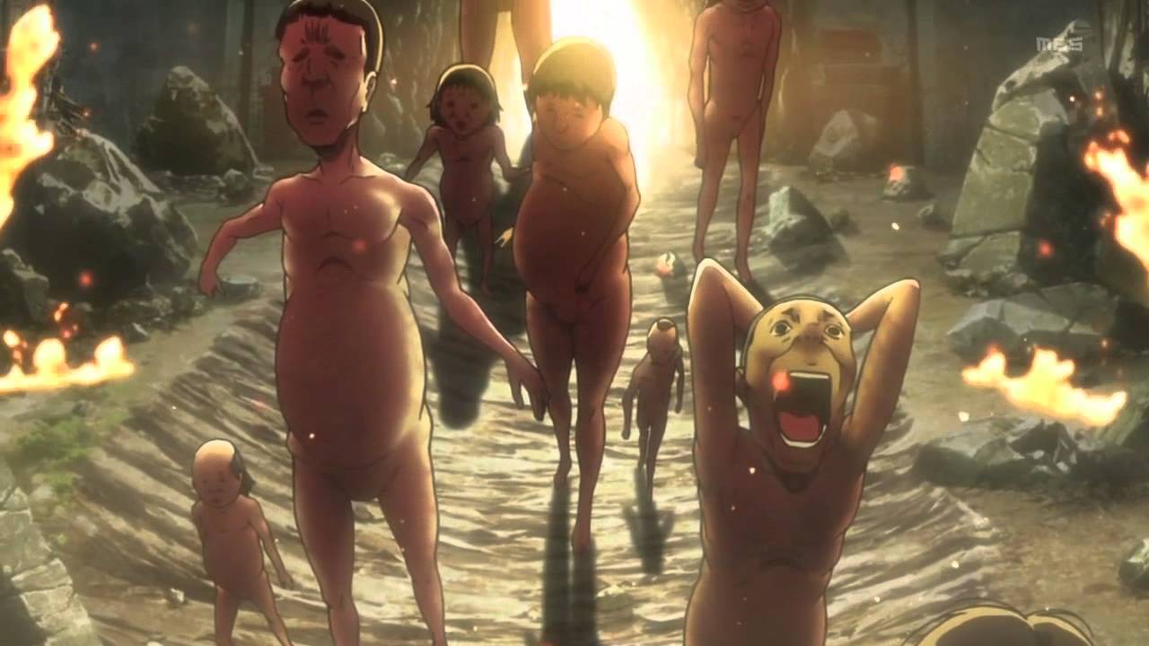 """Titan (巨人 Kyojin?, """"Khổng lồ"""") là sinh vật phản diện chính trong series Shingeki  no Kyojin (Attack on Titan). Chúng là một chủng loài sinh vật có hình ..."""