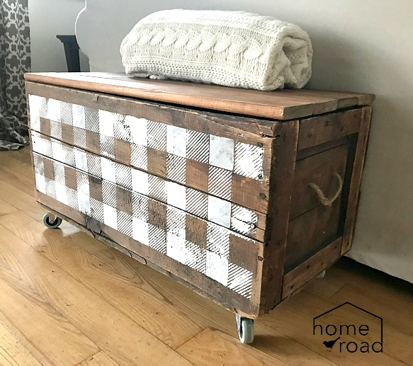 DIY Stenciled Storage From an Antique Crate. Homeroad.net
