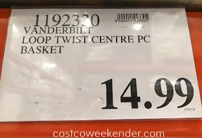 Deal for the Vanderbilt Loop Twist Pedestal Basket at Costco