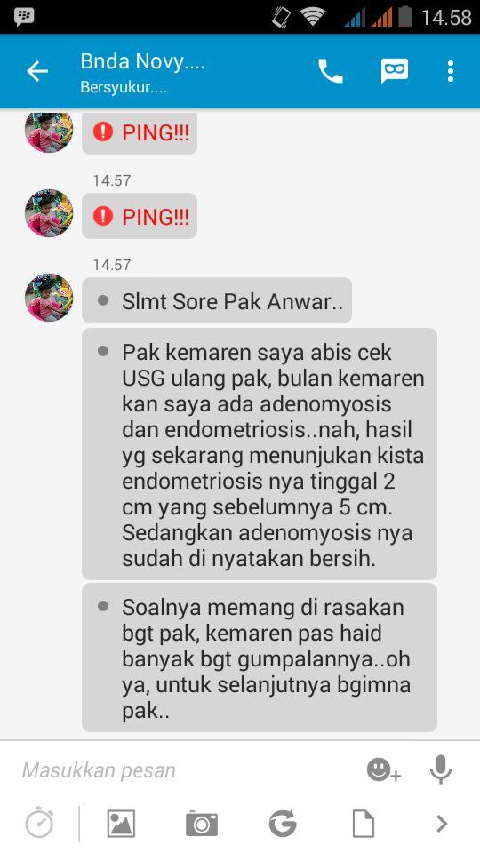 Testimoni Adenomyosis Elif Medika