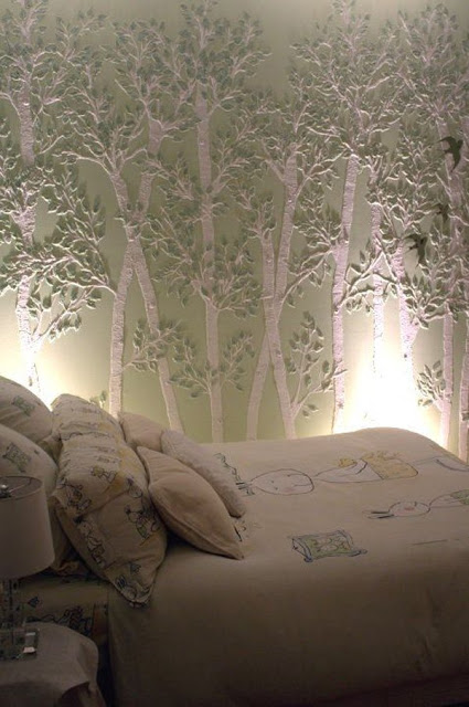 45 DECORACIONES DE DORMITORIOS CON WALLPAPERS - I PARTE