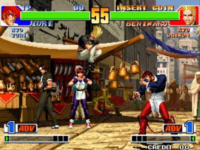 街機:格鬥天王-拳皇98+全人物出招表+作弊碼金手指下載,永不停止的夢幻之戰!