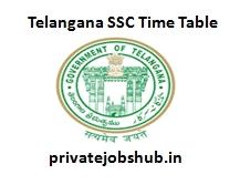 Telangana SSC Time Table