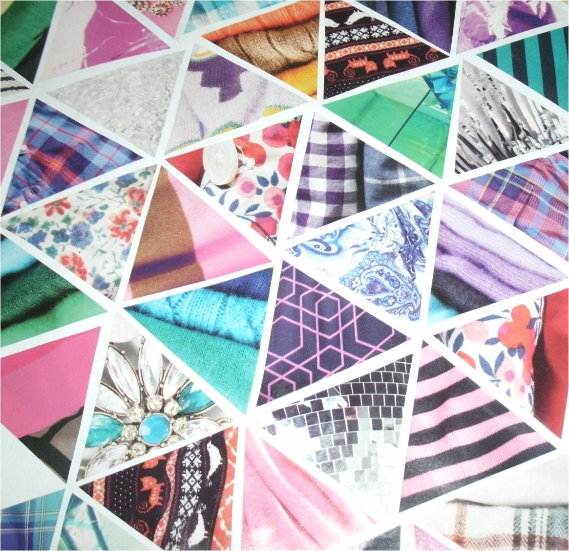 Bess' Bag: Triangles Collage {Back To School DIY}
