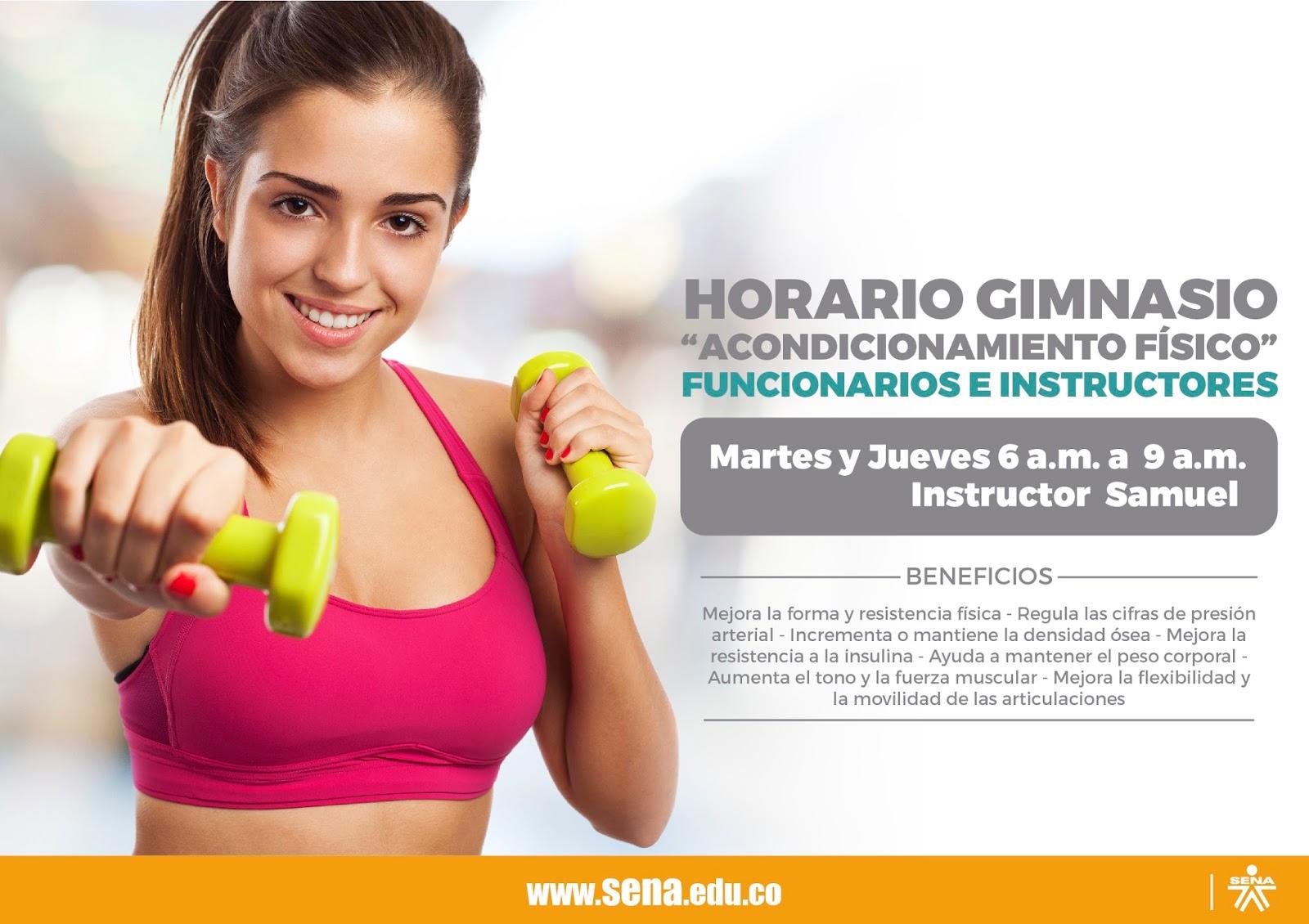 Centro de la tecnolog a del dise o y la productividad for Horario gimnasio