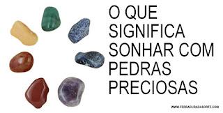 sonhar com pedra