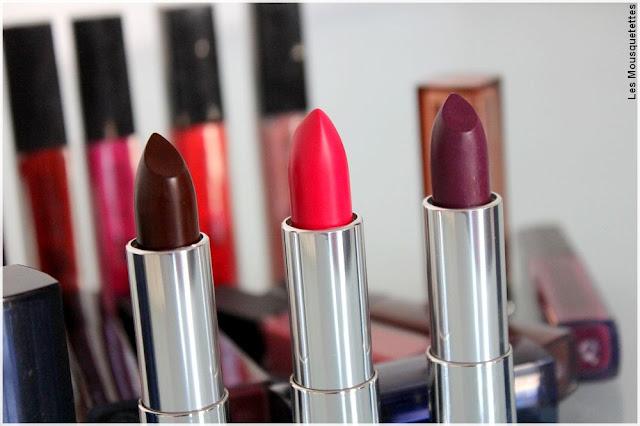 Color Sensational lipsticks audacieux bold - Gemey Maybelline - Blog beauté