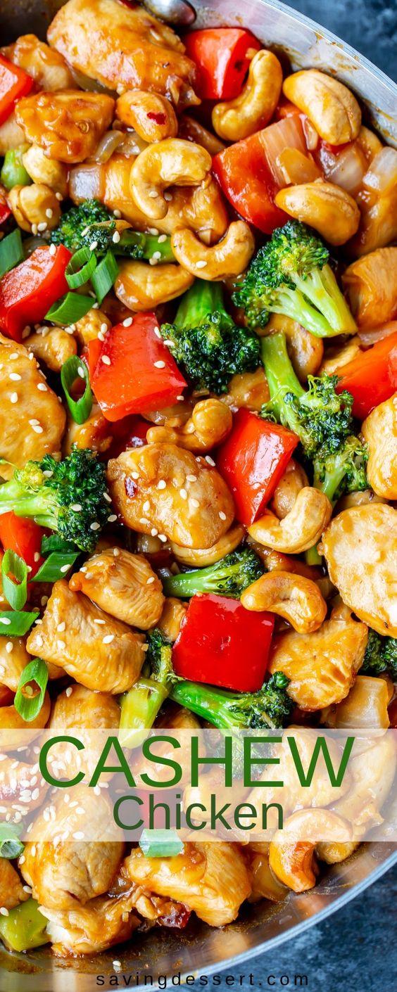 Honey Cashew Chicken #Honey #Cashew #Chicken #Dinner #Vegan #Delecious #Easydinner