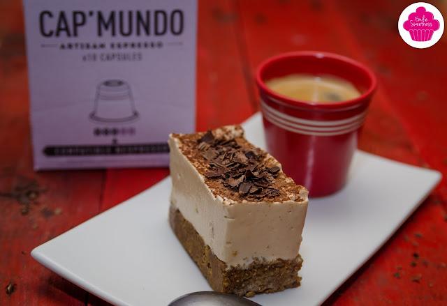 Entremet façon tiramisu - mousse au café sur base croquante chocolatée