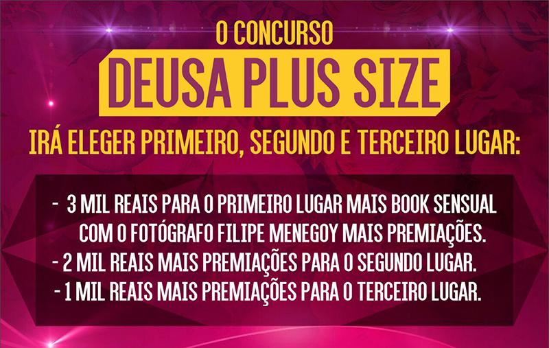 Premiaçao do concurso Deusa Plus Size