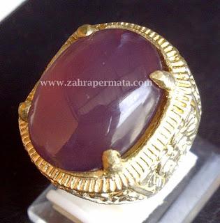 Cincin Batu Permata Lavender Baturaja - ZP 391
