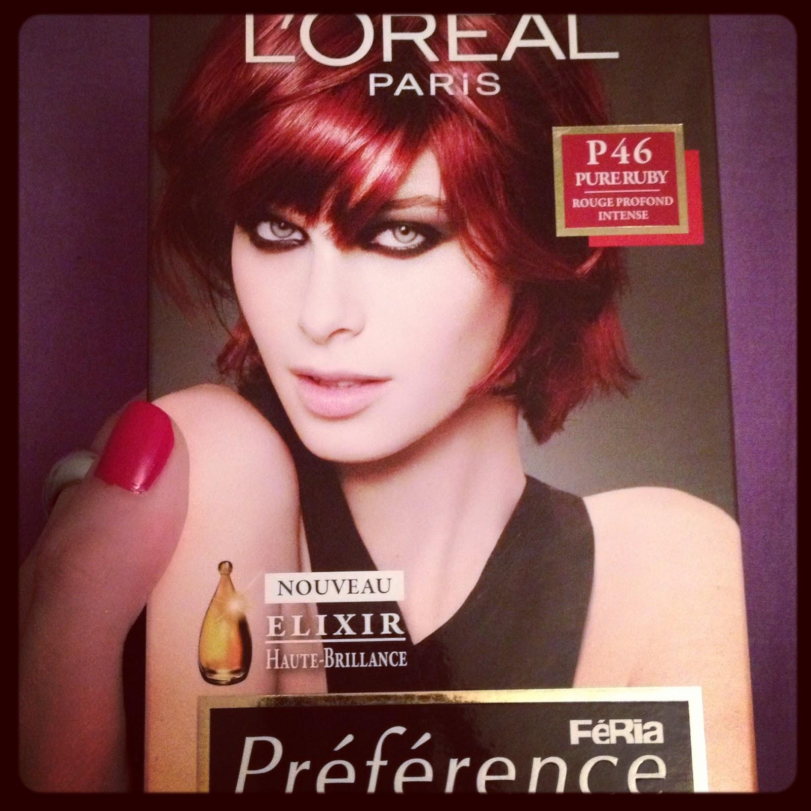 l'oréal paris coloration rouge