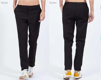 pantalon para mujer negro de corte recto