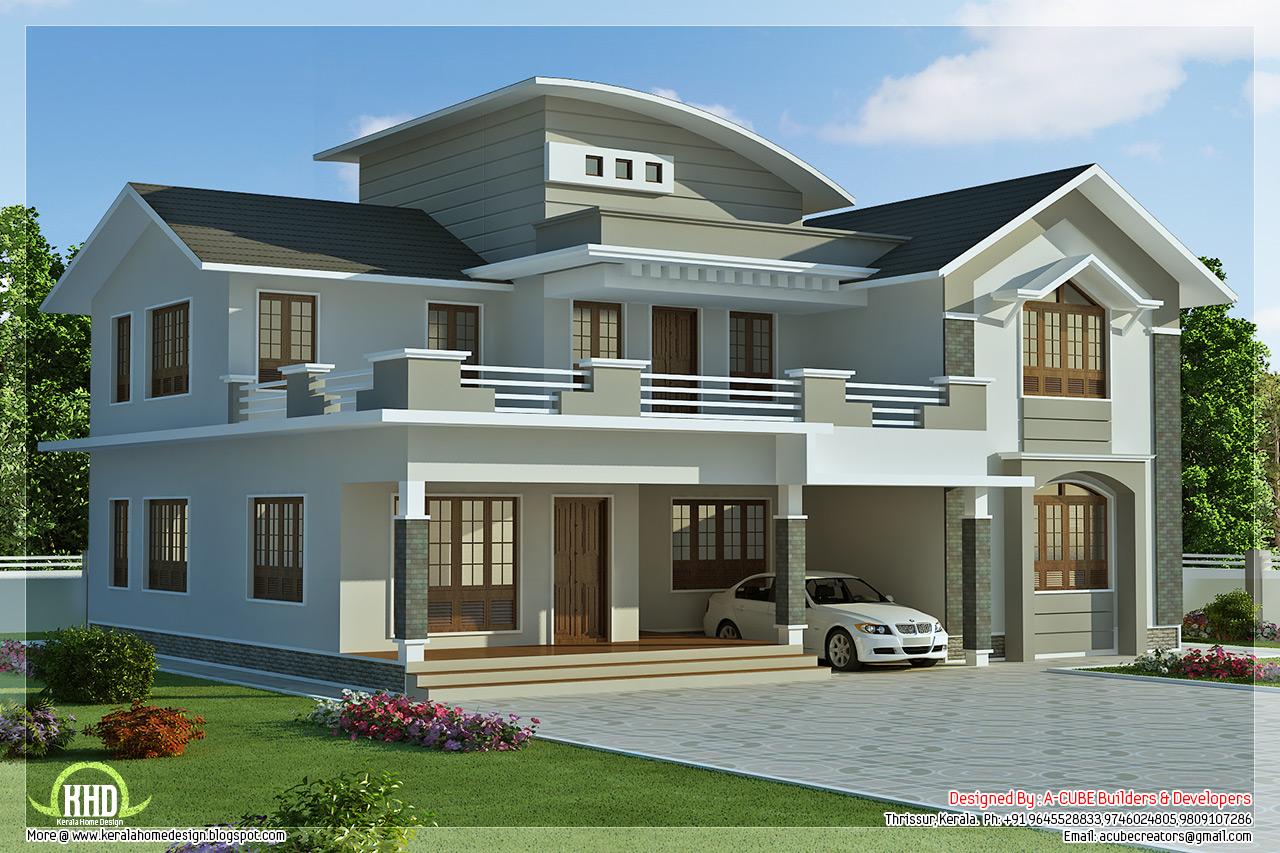 2960 Sq Feet 4 Bedroom Villa Design Kerala Home Design And
