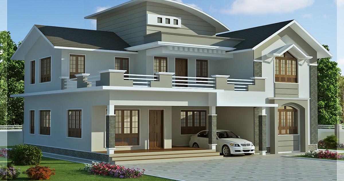 2960 sq.feet 4 bedroom villa design Kerala home design and floor   Home Design