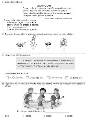SIMULADO DE PREPARAÇÃO PARA O PROALFA TESTE 4