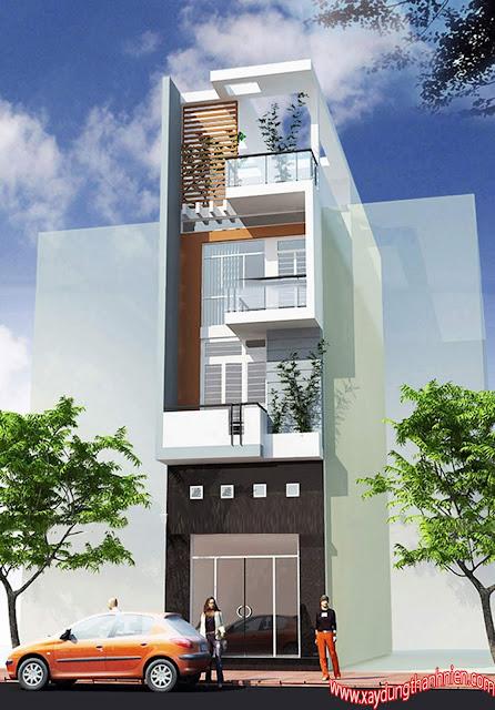 Mẫu Thiết Kế Nhà Phố Đẹp 4x20m 4 Tầng Có 3 Phòng Ngủ