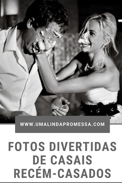 Fotos divertidas de casais recém-casados