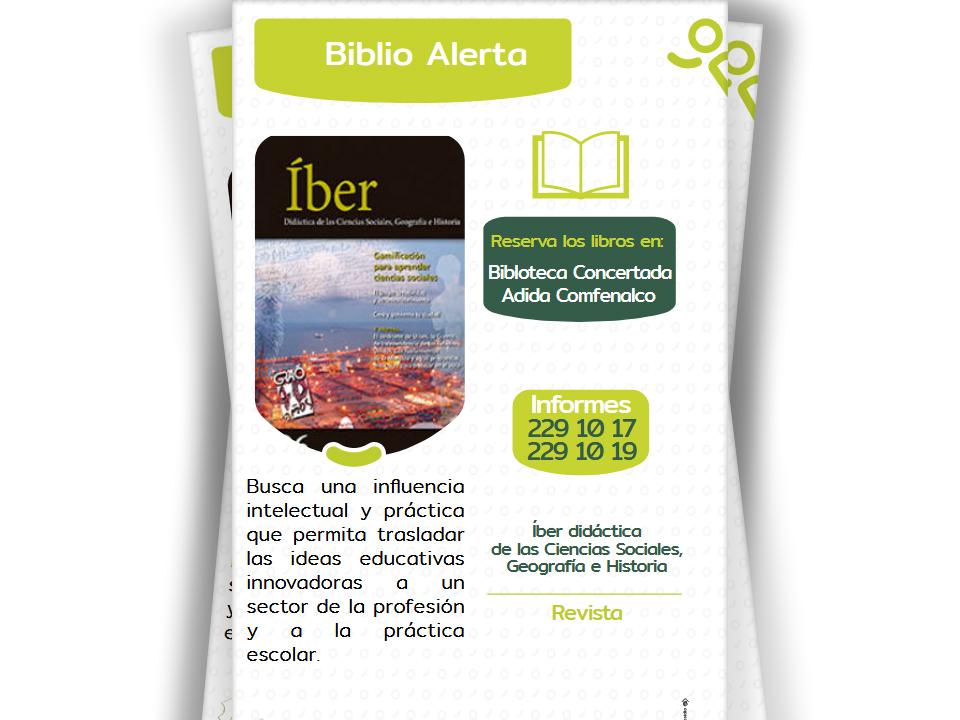 La Biblioteca Concertada ADIDA COMFENALCO, le presenta las nuevas revistas especializadas en Educación