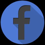 facebook colorful button