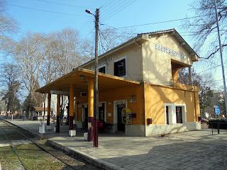 ο σιδηροδρομικός σταθμός της Έδεσσας
