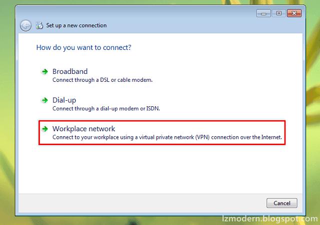 Cara Memilih Koneksi VPN di Windows 7