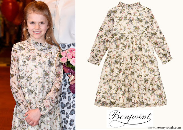 Princess Estelle wore a floral dress by Bonpoint
