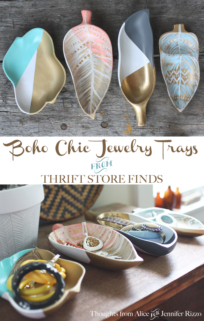 DIY Painted Bohemian Jewelry Storage trays. Create these boho chic jewelry trays tutorial and supply list included!