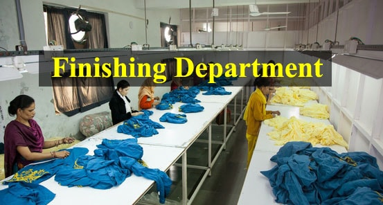 Garment finishing department
