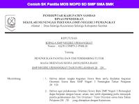 Contoh SK Panitia MOS MOPD SD SMP SMA SMK