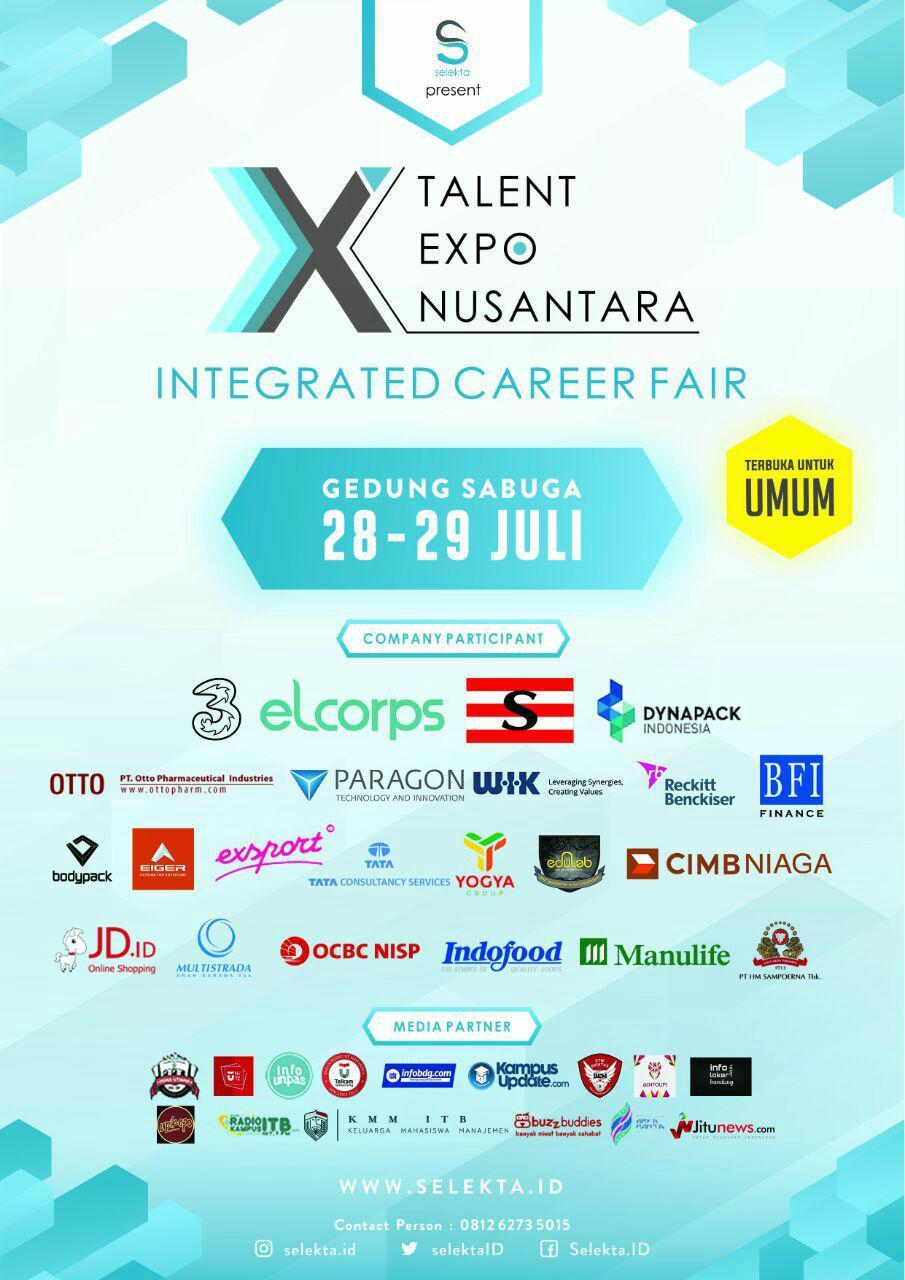 Career Fair Expo Sabuga ITB 28 - 29 Juli 2017 width=