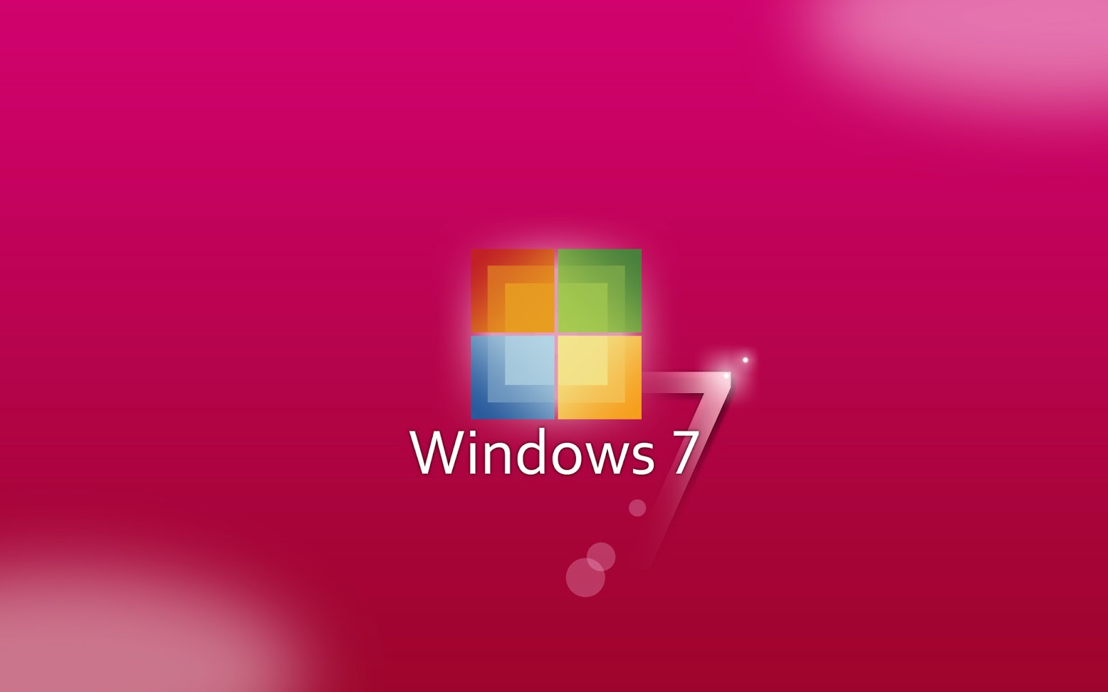 Windows 7 Wallpaper Pink