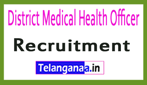 District Medical Health Officer DMHO Recruitment