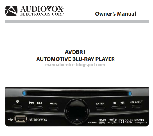 Audiovox AVDBR1 Owner's Manual