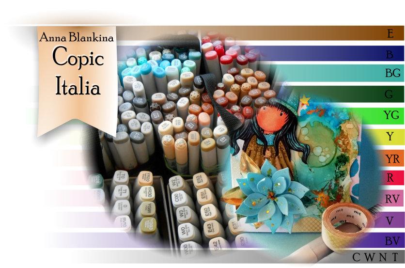 Tutorial Biglietti Di Natale.Copic Italia Copic Fluid Art Mixed Media Tutorial