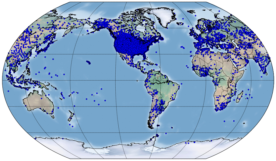 Global Historical Daily Weather Data now available in