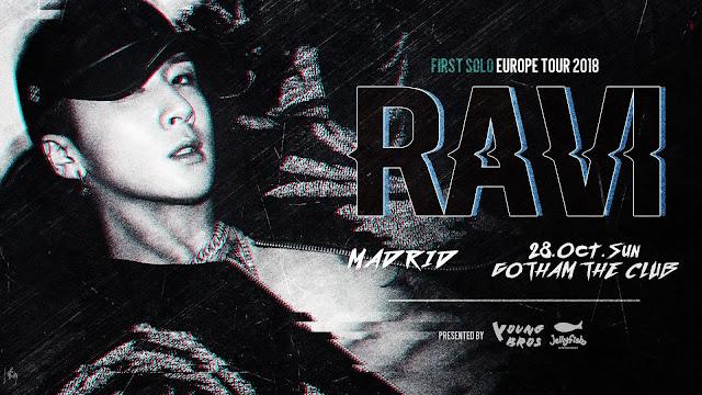 [TOUR] RAVI 라비 en Madrid el 28 de octubre