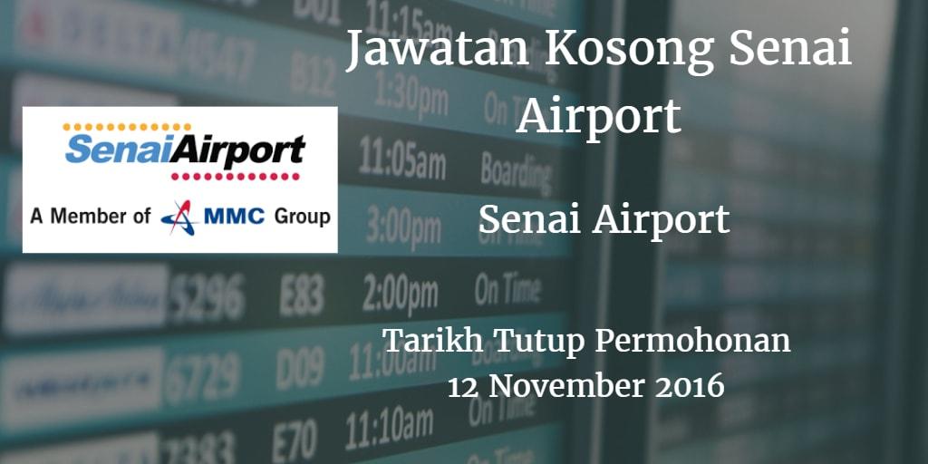 Jawatan Kosong Senai Airport 12 November 2016
