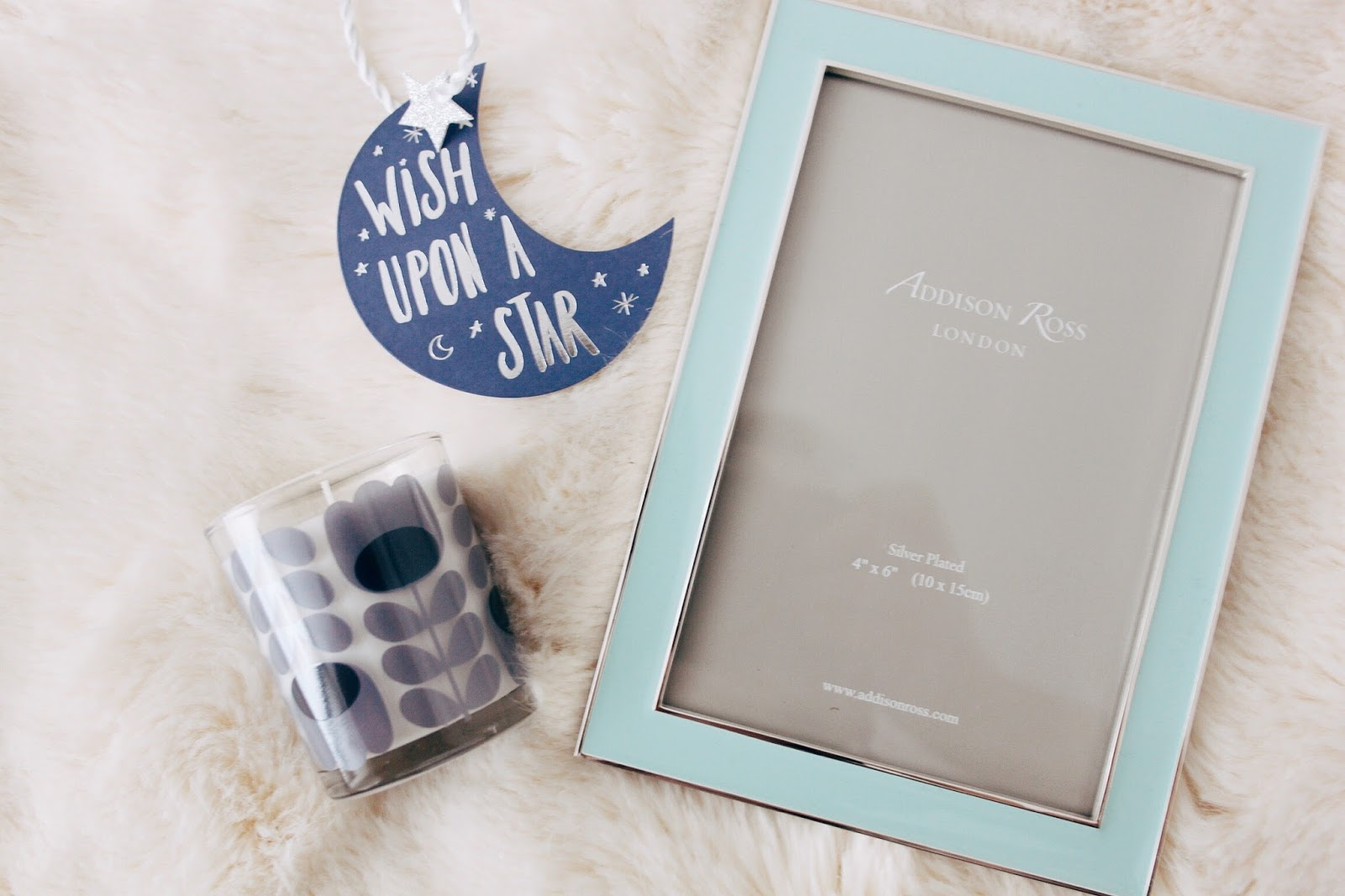 addison ross blue enamel photo frame