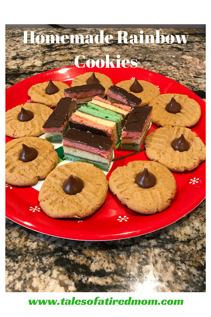 Find out how to make the most delicious homemade rainbow cookies from scratch and the cutest santa hat cookies that are semi homemade and so easy.