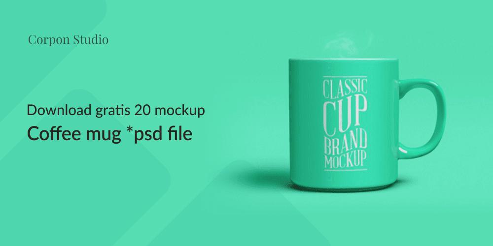 Download 20 Coffee Mug Mockup PSD Terbaru dan Terbaik Gratis