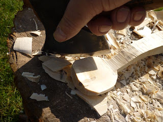 spoon carving axe spoon carving first steps