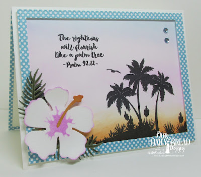 ODBD Bon Voyage, ODBD Custom Hibiscus Dies, ODBD Custom Ferns Dies, ODBD Custom Pierced Rectangles Dies, ODBD Boho Bolds Paper Collection, Card Designer Angie Crockett