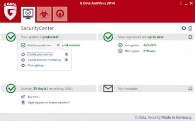 تحميل برنامج G DATA Antivirus لحماية الكمبيوتر من الفيروسات 2018 برابط مباشر