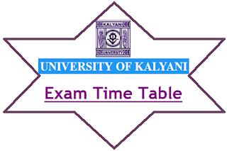 Kalyani University Exam Date 2021
